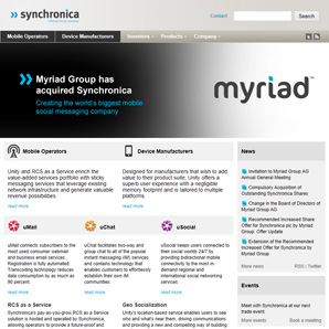 Myriad Website
